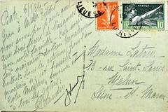 Carte postale 1924 (loutraje) Tags: cartepostale olympiade jeuxolympiques jeux jo timbre batz loireinf