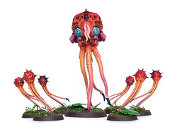 Tyranid spores: Finished (Will Vale) Tags: sporemine 28mm 40k mucolidspore wh40k tyranid scifi gamesworkshop