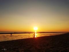 Mr. Baywatch jr. (Fotogaaf ~ Amanda) Tags: backlight sun sunset beach sea baywatch run coast sky perspective horizon ngc