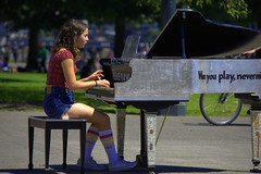 Please Play Me (swong95765) Tags: girl fmale piano public park music play musician pianist invitation