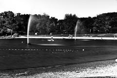 the fountains (darvoiteau) Tags: eau water light fountain fontaine tang lac explore explorer monochrome noir et blanc black white france bourgogne holiday vacance
