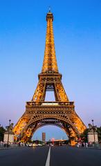 The Eiffel Tower (Photos By RM) Tags: eiffeltower sunset paris france lights hdr eiffel travel tourism evening night dusk europe tower champdemars canon
