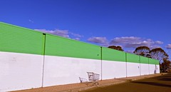 Lines and Trolley! (maginoz1) Tags: lines trolly abandoned abstract art manipulate sunbury bulla melbourne victoria australia winter august 2016 canon g3x