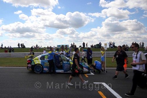 Dan Welch's car during the Grid Walks at the BTCC 2016 Weekend at Snetterton