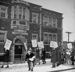 Parents picket & boycott DC schools: 1947 (washington_area_spark) Tags: black 1948 all americans african customs dc demonstrations high discrimination front protesting public school schools overcrowded parents people students washington us unitedstates henry t blow gardner bishop consolidated group segregation inferior boycott picket strike demonstration benning road annexes double shift jim crow 1947