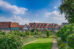 Seligenstadt Altstadt (YomDom) Tags: fachwerk hessen seligenstadt old city center blue sky klostergarten kloster church nikon d5100 nikkor 18105