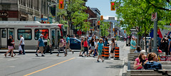 Ottawa Bank Street (City Clock Magazine) Tags: bankstreet canada octranspo ontario ottawa bus pedestrians people publictransit urban walking
