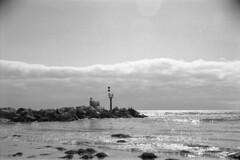 Beach B&W (tymobile) Tags: australia southaustralia adelaide glenelg analogphotography beach ocean 6x9 mediumformat 120film iso400 ilfordhp5 blackandwhite planar 100mmf28 carlzeiss technika linhof