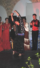 Cuadro flamenco en el patio de la iglesia de la Victoria