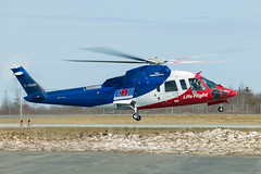 LifeFlight Lift-Off (threemilesfinal) Tags: nova canon canadian helicopter scotia halifax 1ds ehs sikorsky s76 lifeflight medevac 100400l cyhz cgimn threemilesfinal