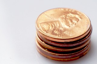 If it's a penny for your thoughts and you put in your two cents worth, then someone, somewhere is making a penny. ~Steven Wright