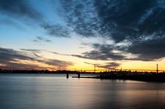 Twilight clouds in New York (Lojones13) Tags: newyork ski clouds twilight bronx horizon eastriver bluehour