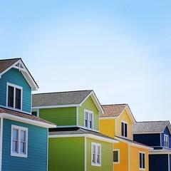 Beachfront houses on Rt 12 in Whalebone, NC. #TheWorldWalk #obx #nc #mdw #travel