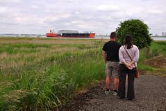 Crowd (larry_antwerp) Tags: bridge gate ship lock vessel schelde schip heavylift kieldrecht deurganck zhenhua15 8714970 zhenhuashipping zhenhuaheavyindustry kieldrechtsluis