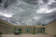 While at Work (Chains of Pace) Tags: storm building oklahoma clouds hospital ok guymon