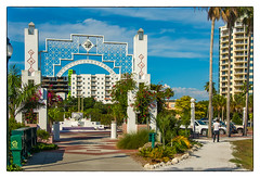Sarasota Bayfront (Timothy Valentine) Tags: vacation sign us unitedstates florida sarasota bayfront 0415 2015 datesyearss clichésaturday
