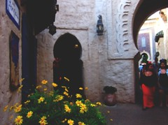 Moroccan beauty (BohemianMuse) Tags: flowers red art love yellow architecture happy scenery arches arabic morocco passion romantic hippie vibes spiritual