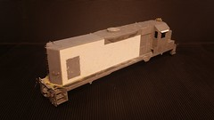 CSX - MATE (Road Slug) GP35 (Body) #2230 - Stripped - HO Scale - Eng Rear 3-4 - Jun-7-15 - K. Crawley (dcmkris) Tags: atlas csx hoscale gp402 custompainted darkfuture roadslug mothermate