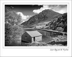Llyn Ogwen & Tryfan (Mike Parr) Tags: blackandwhite mountain lake water monochrome wales landscape mono fuji snowdonia tryfan llyn northwales ogwen llynogwen ogwenvalley fujixpro1 fujixseries