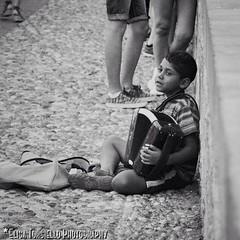 Play it again Sam. (Elisa Torsiello Photography) Tags: blackandwhite music greece rhodes rodi holydays