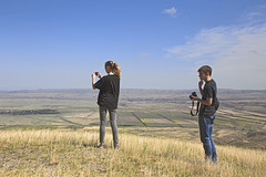making pano all together (monorail_kz) Tags: family summer mountains skyline landscape july fields kazakhstan steppe prarie kapal almatyregion dzungarianalatau dzungaria koshkental