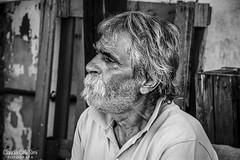Uomo (Claudia Celli Simi) Tags: bw bn blackandwhite ritratto portrait anziano mansignore barba rughe signore man uomo claudiacellisimi viterbo italia 2016