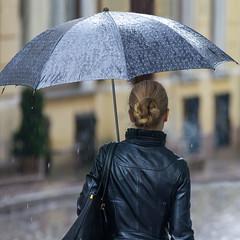 day like this (Seerin Kama) Tags: street people umbrella rain weather outdoor snapshoot bokeh
