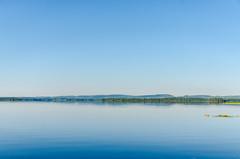 Calm morning (ArtDvU) Tags: morning summer lake finland landscape calm cloudless kiantajrvi lakescape sotkamo vuokatinvaarat