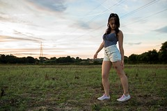 Field of Dreams (Jamo_115) Tags: d3200 nikon sigma 1750mm hot sexy beautiful girl woman legs long sunset model field woods lake clouds shorts hotpants converse tattoo thigh leggie pins grass cute lound norfolk