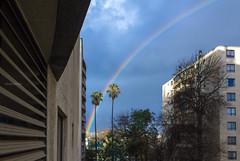 Lindo regalo de cumpleaos... (Basilio Robledo) Tags: chile santiago sky arcoiris canon eos lluvia rainbow cordillera t2i efs1855mmf3556is basiliorobledo canon550d eosrebelt2i