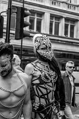 Diamonds and Chains (Silver Machine) Tags: london prideinlondon lgbtpride2016 streetphotography street streetportrait candid candideyecontact diamonds chains bw blackwhite mono monochrome fujifilm fujifilmxt10 fujinonxf35mmf2rwr