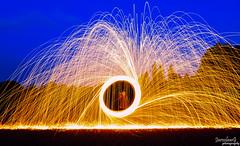 Longtime exposure of steel wool (JaroslawG) Tags: jaroslawgphotography hobbyphotographer night lights steel wool longtimeexposure lumixg lumixgphotography bremen outdoor circle