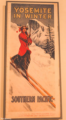 Yosemite in Winter poster (Thad Zajdowicz) Tags: poster woman skis yosemite 1911 old vintage classic huntingtongardens zajdowicz sanmarino california availablelight lightroom canon eos 5dmarkiii dslr digital primelens 50mm ef50mmf12lusm color red text writing letters words art sign inside indoor photoborder advertisement