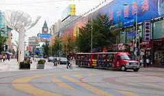 Downtown Beijing . (john a d willis) Tags: china bus beijing crossroad peking