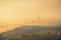 Misty mornings (Francesco Patroncini Photography) Tags: basilicadisuperga basilica superga torino fog foggy mist misty dawn sunrise sun colours landscape hills piemonte italy italia nikon nikond5300