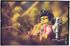 Into the woods (Priovit70) Tags: lego sigfig hiking backpack woods minifig olympuspenepl7