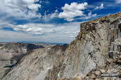 The Western Face (kevin-palmer) Tags: cloudpeakwilderness bighornmountains bighornnationalforest wyoming summer july nikond750 tamron2470mmf28 alpine cloudpeak blue sky clouds circularpolarizer wall cliff face scenic view