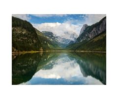 Tranquil Austrian Alps (Christos Andronis) Tags: tranquillity reflections reflexions peace pastel nature landscape lake green europe conservation canon austria 5dmkii fir gosau