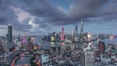 Timelapse of Lujiazui Shanghai (HIKARU Pan) Tags: timelapse timelapsevideo video shanghai chinese china asia landscape landmark lujiazui huangpuriver jinmaotower shanghaiworldfinancialcenterswfc orientalpearltvtower shanghaitower night nightscape cloudy cloud