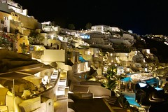 Mystique resort at night (somabiswas) Tags: mystique resort night lights greece oia santorini hotel travel luxury sincity