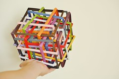 Thirty Interlocking Squares (Byriah Loper) (Byriah Loper) Tags: origami origamimodular cubic byriahloper byriah compound complex cube stardream square paperfolding paper polyhedron polygon abstract angle