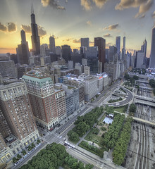 sunsets are proof that endings can often be beautiful too... (Elisa Ursalas Lupu) Tags: chicago illinois unitedstates sunset aerial aerialphoto photography amazing beautiful sky arhitecture buildings oldbuildings railroad willis tower michigan park chitown chicity superb dji djiphantom pov sunrays clouds enjoy choosechicago choose travel visit streets cars