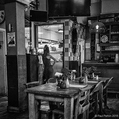 Pub on the Park, Hackney (Paul Perton) Tags: bw fuji hackney london x100t blackandwhite candid people pub square street streetphotography urban