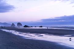 Silver Point and Jockey Cap (Endangered71) Tags: canonbeach oregoncoast nauticaltwilight twilight silverpoint jockeycap oregon beach