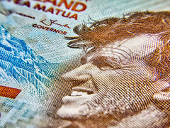 New Zealand 5 Dollar Bill (Mundstrom) Tags: macro macrofilter polaroidmacrofilter banknote newzealand aurorahdrpro aurorahdr hdr