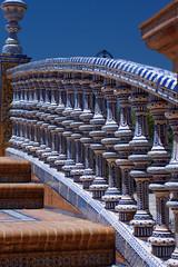 Balustrada mostku - Plaza de Espaa - Sewilla (jacekbia) Tags: europa hiszpania espaa spain sewilla plaza plac hiszpaski ceramika aweczki colors kolory canon 1100d outdoor sevilla most bridge plazadeespaa
