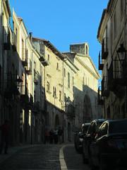 June evening sun, street in Sigüenza, Spain (Paul McClure DC) Tags: españa spain historic castillalamancha castile sigüenza june2014
