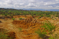 Tatacoa Desert Or Valley Of Sorrows, Colombia (ARNAUD_Z_VOYAGE) Tags: red color colour colors cuzco america forest river landscape site los amazing colombia colours view desert south north centro gray central dry valley area tropical huge region department magdalena huila centrale hoyos villavieja tolima rattlesnakes sorrows semiarid neiva natagaima tatacoa