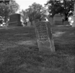 Corporal Willis Henderson, Spanish-American War (triebensee) Tags: blackandwhite film monochrome cemetery brooklyn zeiss memorial day greenwood 11 d76 hasselblad carl f28 planar 80mm 500cm selfdeveloped 2015 fujineopanacros100 fujifilmneopanacros100 brooklynian