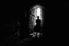 Lost in thought (deebushuk) Tags: bw noiretblanc blancoynegro lightanddark monochrome mono blackandwhite blackbackground figure innamoramento